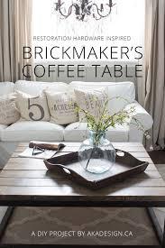 diy brickmaker u0027s coffee table