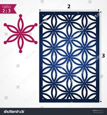 abstract laser cut panel pattern floral stock vector 520119127