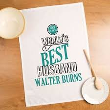 2nd anniversary gift ideas for personalised best husband tea towel cotton 2nd anniversary gift