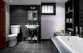 dark tile flooring ideas with light and small mirror for small