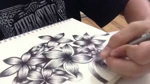 flower drawing doodle inspired youtube
