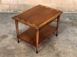 lane acclaim end table lane acclaim mid century modern walnut end table iconic dovetail