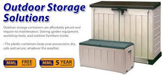 Backyard Storage Solutions Mml Educational Furniture Plastic Outdoor Storage