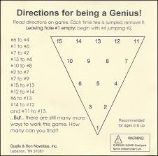 cracker barrel table game triangle peg board game instructions