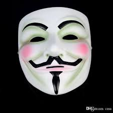 anonymous mask vendetta mask anonymous mask of fawkes fancy dress