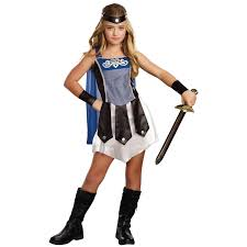 fearless gladiator costume for girls roman fancy dress jokers