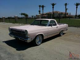 ranchero car ford ranchero fairlane rare beach car pink