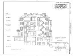Architectural Floor Plan by 04 10 Kykuit Rockerfeller U0027s Estate Cross Section Through The