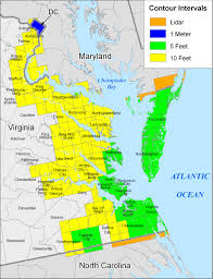 map of virginia more sea level rise maps for virginia
