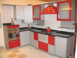 Red L Shaped Vanity Cabinet New Kitchen Remodeling Ideas Brown Mahogany Small L Shaped Trendy