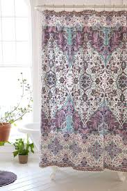 Brown Ruffle Shower Curtain by Buy Custom Watercolor Drawing Purple Flower Shinny Spring Day