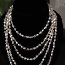 pearl size necklace images Custom jewelry tiffanystyle genuine freshwater pearl necklace jpeg
