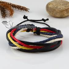 cord rope bracelet images Genuine leather waxed cotton cord woven wristbands drawstring jpg