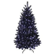 black pre lit glitter tree bright white lights