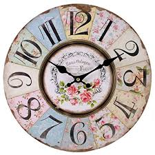 Shabby Chic Bedroom Accessories Uk Shabby Chic Floral Patchwork Clock Vintage Wall Clocks For