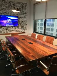 Live Edge Conference Table Stained Yellow Pine Conference Table U2014 Nycityslab Custom