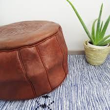 pouf marocain cuir pouf en cuir rond