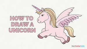 how to draw a unicorn in a few easy steps drawing tutorial for