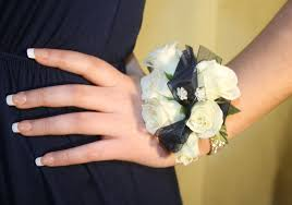 white corsages for prom teenagers these days