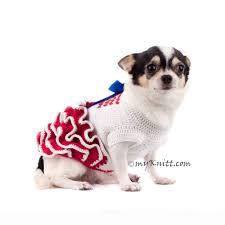 dog ribbon ruffle dog dress 4th july white blue with ribbon dk791