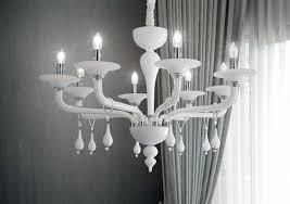 ladario da soggiorno ladario contemporaneo da soggiorno vetro bianco lucido 6 bracci