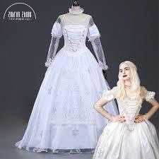 Queen Halloween Costumes Buy Wholesale White Queen Halloween Costume China