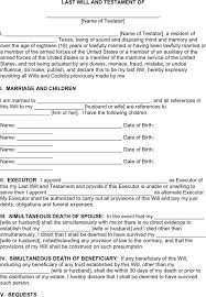 texas last will and testament form download free u0026 premium