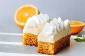 Carrot Cake With White Chocolate Mousse Bake No Fake