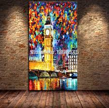 large oil paintings canvas handmade landscape big ben in london england oil knife painting canvas wall