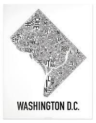 Seattle Neighborhood Map Washington Dc Neighborhood Map Posters U0026 Prints Modern Wall Decor