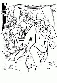 mystery machine scooby doo free coloring cartoon pages