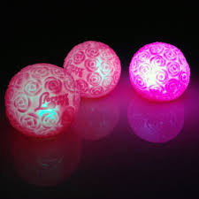Flower Ball Colorful Led Glowing Rose Flower Ball Valentines Party Wedding