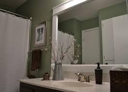 How To Make A Bathroom Mirror Frame Dwelling Cents Bathroom Mirror Frame