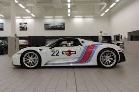 martini rossi racing 918 spyder weissach pkg in martini livery for sale