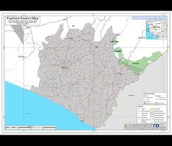 Map Of Sierra Leone Sierra Leone District Planning Map Pujehun A1 Size Revenue
