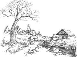 Coloriage Adulte Paysage  Les beaux dessins de Meilleurs Dessins à