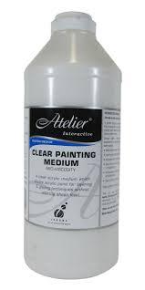www medium atelier 1l clear painting medium
