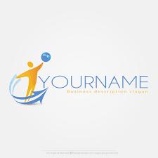 free logo maker online man with globe logo design