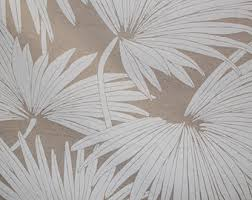 Tropical Upholstery Palm Leaf Fabric Etsy