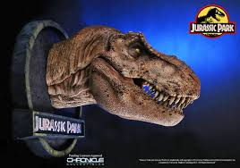 jurassic park car trex beautifully detailed t rex bust was created using the dinosaur