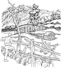 Detailed Coloring Pages Printable Landscape Coloring Pages For Adults Journalingsage Com by Detailed Coloring Pages