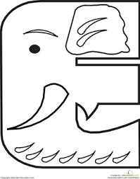 letter e worksheet education com