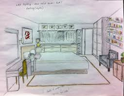 simple bedroom sketch room by twistedexitdeviantartcom on