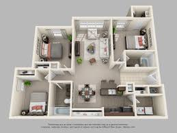 3 Bed 2 Bath Floor Plans by Duluth Ga Apartments Sugarloaf Trails Apartment Homes Floorplans