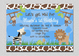 fourth of july birthday invitations jungle animals birthday invitation safari animals birthday