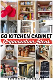 kitchen cabinet storage ideas 60 diy kitchen cabinet organization ideas prudent