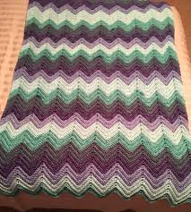 a ripple afghan made with the same color bernat pop yarn as my c2c