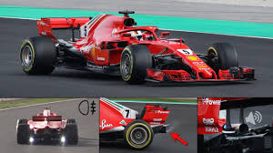 ferrari f1 ferrari sf71h f1 2018 in action strange test lights rear smoke