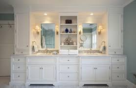 bathroom white classic custom cabinets houston cabinet masters