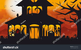 Halloween Monster House Halloween Monster House Stock Vector 160203272 Shutterstock